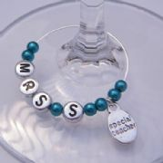 Special Teacher Personalised Wine Glass Charm